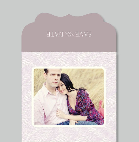 Modern Save the Date Photo Template - 5x5 Luxe Trifold Card - s0011 - Wedding Photography Photoshop Template