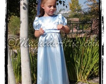 Custom Halloween WENDY Darling of Peter Pan Blue Girls Costume Dress in Standard Child Size 8