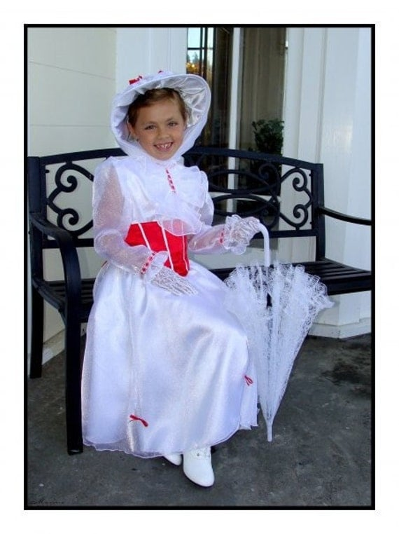 Custom Boutique Christmas MARY POPPINS Jolly Holiday Girl Size Costume Dress