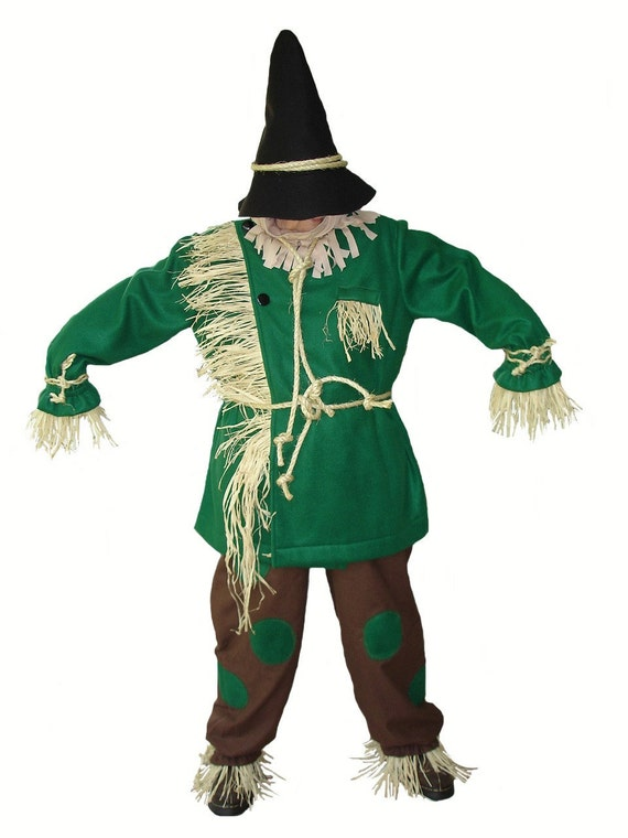 Custom Boutique Halloween Scarecrow of the Wizard Of Oz Adult Size Costume Set
