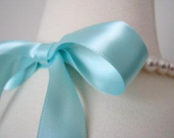 Customize-Your-Own Ribbon-Tied Swarovski Pearl Bridesmaid Necklaces