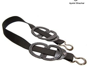 Black Leather Belt - black sash - Waist Belt - Women Belt - stretched belt - elastic belt- BOGO SALE