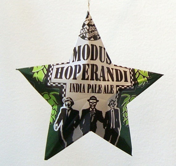SKA Modus Hoperandi Stars Ornaments Aluminum Can Upcycled