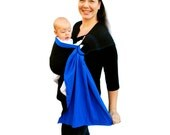 Ring Sling Baby Carrier Double-Layer Gauze Two Tone Pleated - Ready to ship in Tall length