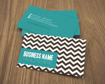 zig  double sided business card - Instant download