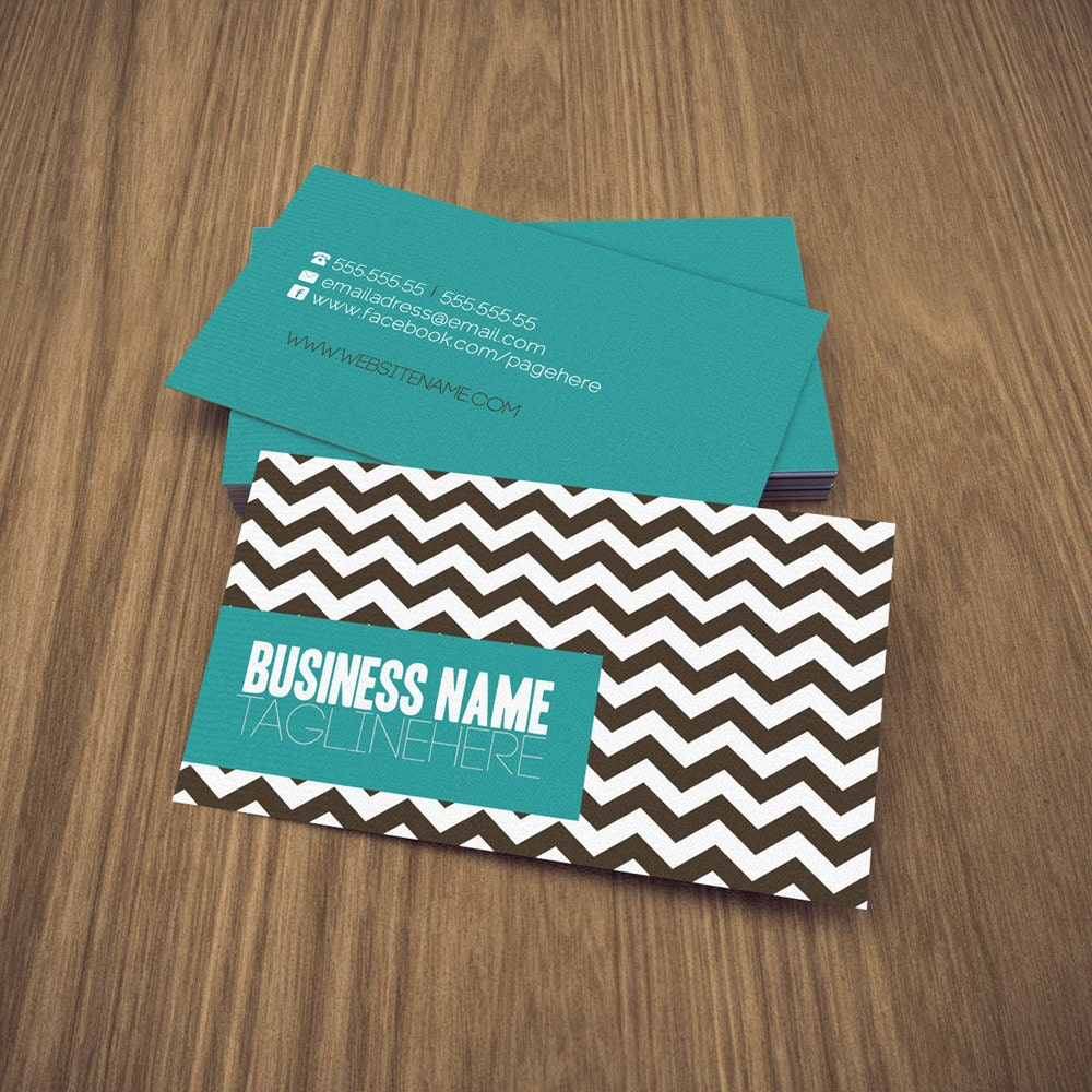 zig double sided business card