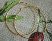 Large Hoop Earrings in Gold, Silver, or Copper, Fun and Simple, Add your own dangle,