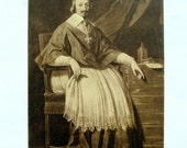 Cardinal Richelieu Vintage Postcard, Time of Three Musketeers, From French Portrait