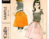 UnCut Vintage 1968 McCall's Sample Sewing Pattern -  Misses' and Junior Short Apron