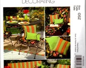 2007 UnCut McCall's M5342 Home Decorating/Craft Sewing Pattern - Patio Cushions and Pillows
