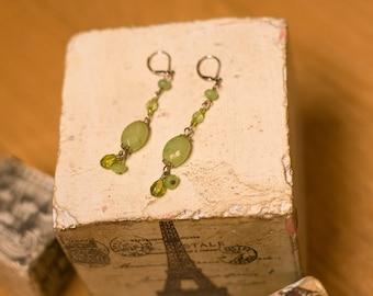 Moss Green Dangle Earrings