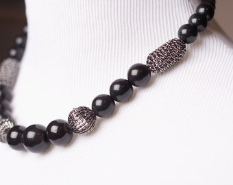 Mystic Nights - Black Pearl Necklace