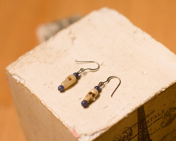 Blue Voodoo - Handmade Dangle Earings