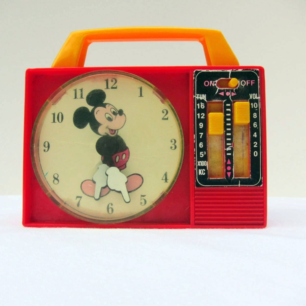 Mickey Mouse Clock Hands Vintage Toy Mickey Mouse Clock