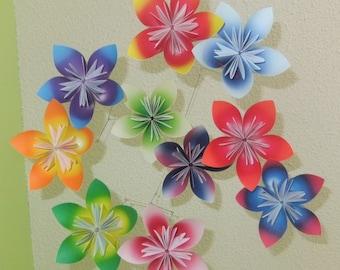 Flower Mobile 'Harmony', Baby Shower Gift, Baby Mobile, Nursery Decor, Floral Decor, Paper Flower Mobile, Paper Flower Decor, Origami Mobile