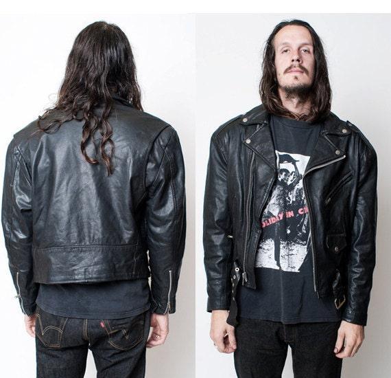 Wilsons leather biker jacket