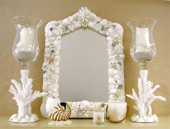 Beach Decor Designer Seashell Mirror