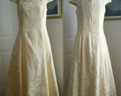 Jessica McClintock Buttercream White Brocade Bridesmaid Dress, Size 12, Women's Ladies Dresses, 1950'S Style