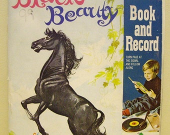 Black Beauty Book with 45 Record by Anna Sewell, Classic Stories