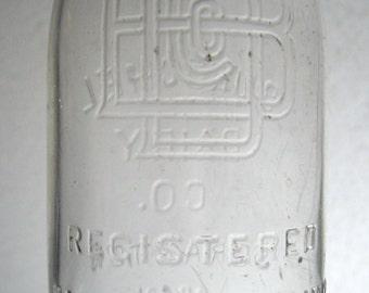 Owens Illinois Half Pint Glass Milk Bottle, Burschel Dairy Scranton, Pa,  Bottle Collectibles, Farmhouse, Country