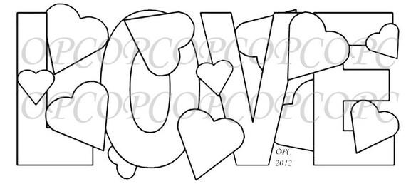 Digital Stamp Love
