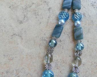 Pale Blue Celtic Star Pendant Necklace