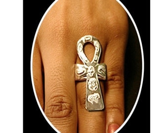 Ankh Ring Sterling Silver Afrocentric Jewelry