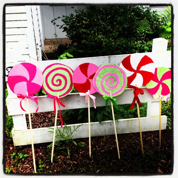 Items Similar To 4 Lollipops Yard Decorations On Etsy