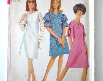 Vintage Sewing Pattern 60's Simplicity 6496 Dress in Three Versions (XS)