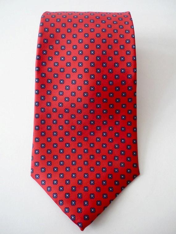 Vintage Neckties Men's 80's Silk, Red, Square, Printed Tie by Brookville 897 FreshandSwanky on Etsy
