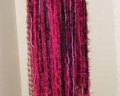 Tribal Fusion Bellydance Hot Pink and Black Yarn Belt/ Skirt