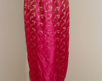 Hot Pink and Gold Bellydance Panel Skirt