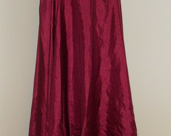 Fusion Egyptian Bellydance Burgandy Silk Essence 5 Yard Professional Style Circle Skirt