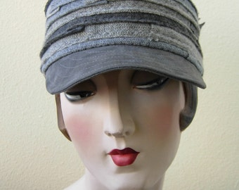 Cashmere cap, Unisex, Recycled material, Greys. FREE SHIPPING in the US