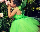 Green Pixie Fairy Tutu Dress / Birthday Dress up set Infant - 5t
