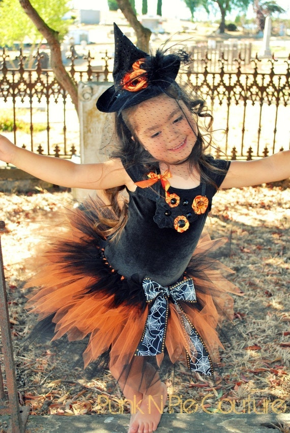 Witch Halloween Costume 4 pc. set- Coco the Couture Witch Reserved for Mary