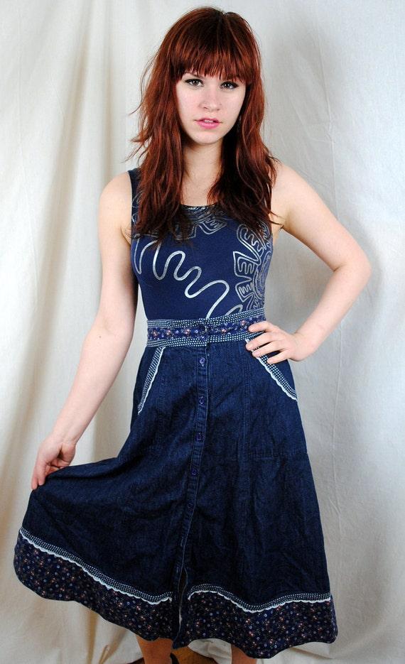Sweet Gunne Sax Boho Prarie Skirt