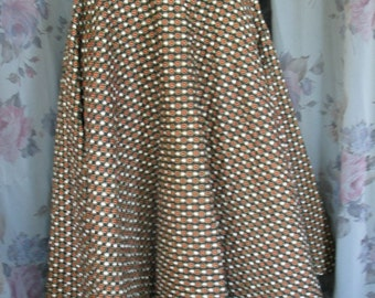 reserved vINTAGE 50'S qUILTED fULL cIRCLE sKIRT JO COLLINS
