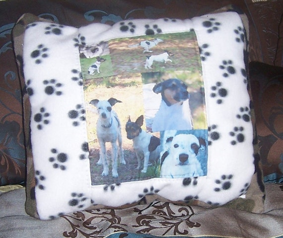 My Dogs Hand Quilted Photo Pillow