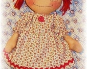 Raggedy Ann Doll PATTERN, Instant Download, PDF Rag Doll Sewing Pattern, Digital Download
