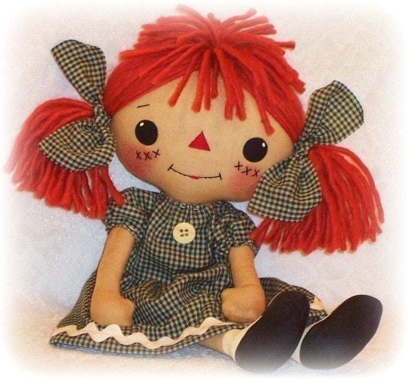 Soft Toy Patterns : Cloth doll pattern pdf rag sewing