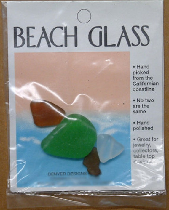 Party Favor Birthday for Present So Cal Beach Glass Hand Picked and Packaged Souvenir Add on Gift Tag OOAK Baby Showers Weddings Bridesmaids
