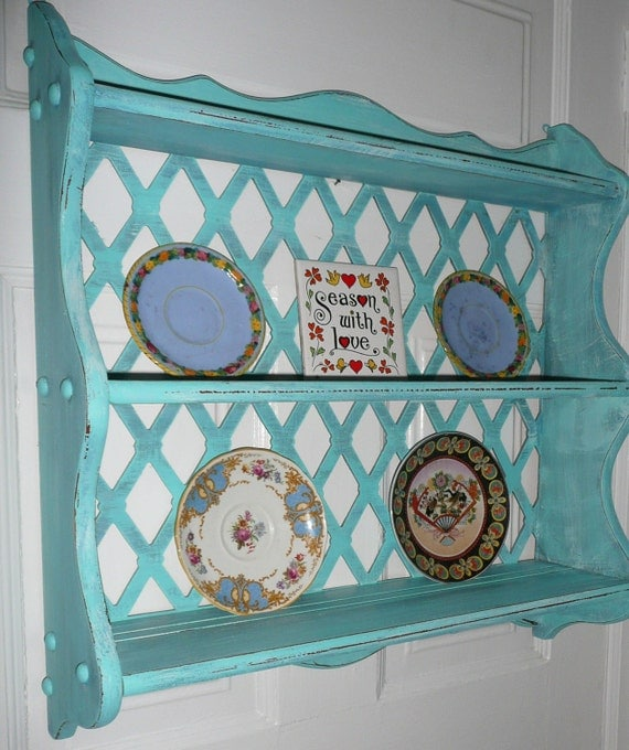 Shelf with Towel Bar Vintage Cottage PAINT to ORDER