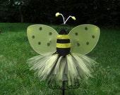 BUMBLEBEE  Tutu- Girls Bee tutu- Toddler Bumblebee- batman tutu, superhero tutu- Dance tutu-  yellow and black tutu---- TUTU ONLY --- Baby,