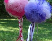 Custom party favor- PRINCESS POOF WANDS- Tulle Wand- Design your own wand- Custom Wand- Birthday Party Favor, baby shower decoration