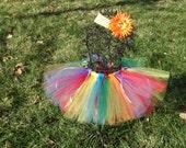 Baby Clown Costume- Birthday Tutu- Clown Costume- Kids Clown Costume- Girls Clown tutu- Rainbow tutu- Baby Rainbow tutu-Rainbow Costume