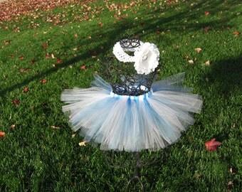 Winter Onederland tutu- Winter Wonderland Tutu-Girls Winter tutu-Blue and White tutu skirt-Frozen tutu- Chanukah tutu- Hanukkah tutu