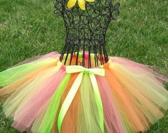 Sherbet tutu- coral tutu- lime green tutu- neon tutu- girls dance tutu-  TUTTI FRUITTI tutu----- 2t, 3t, 4t, 5t