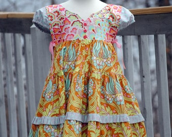 Girl's Handmade Dress, Girls Easter Dresses, Children Clothing, Toddler Easter dress, Pink, Blue, Cute Boutique dress, Size 2T/3T 4/5 6/7 8