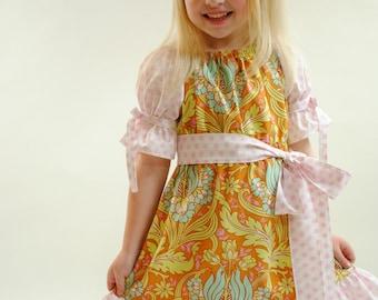 Girls Peasant Dress, Toddler Peasant Dress, Girls Dresses, Toddler Dresses, Birthday Dress, Party Dress, pink, Children, Size 2T 3 4 5 6 7 8